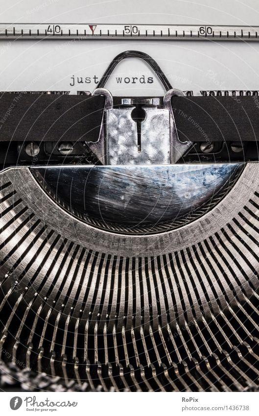 just words alt sprechen Denken Kunst Metall Schriftzeichen ästhetisch Technik & Technologie Kommunizieren lernen Zukunft Buch Telekommunikation einfach retro