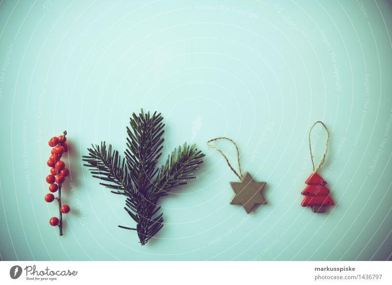 weihnachts dekoration schmuck Weihnachten & Advent Gefühle Dekoration & Verzierung retro Moos Weihnachtsmann altehrwürdig Ornament Tannenzweig Stechpalme