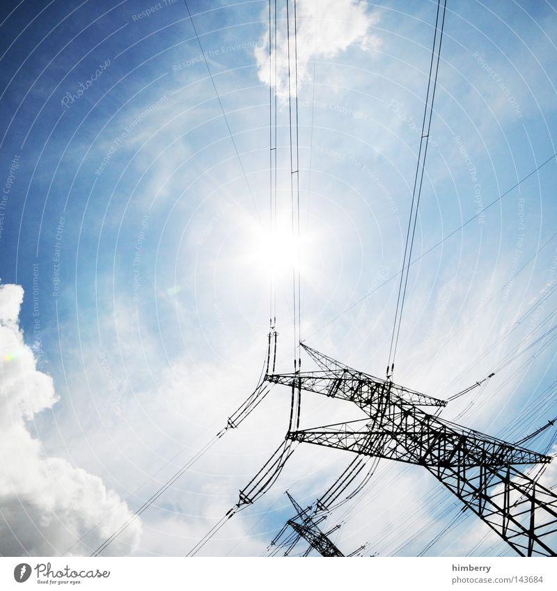 stromschläger Sonne Kraft Energie Kraft Industrie Energiewirtschaft Elektrizität Technik & Technologie Netz Kontakt Wissenschaften Sonnenenergie Kontrolle Industrieanlage Stromkraftwerke Hochspannungsleitung