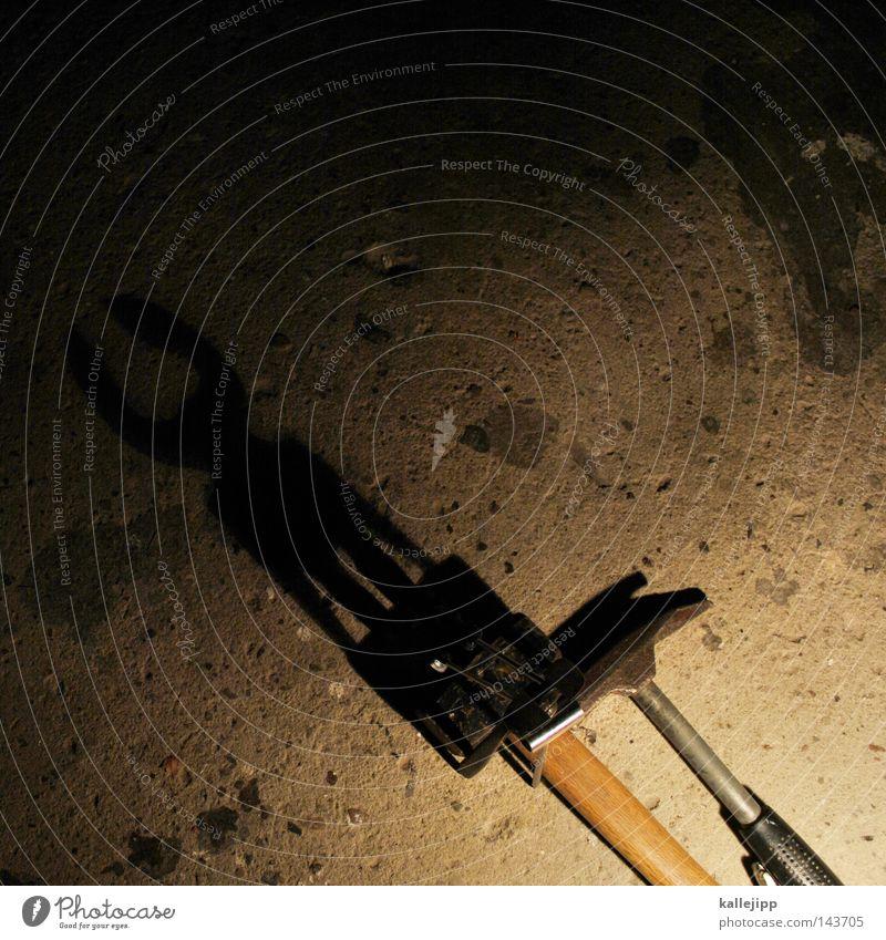 minitaurus Tier Metall Beton Metallwaren historisch Scharfer Gegenstand tierisch Handwerk Werkstatt Werkzeug Horn Eisen Stolz Griechenland Hammer Irrgarten