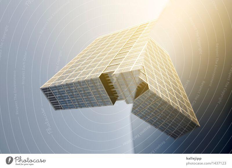 tie fighter Stadt Fenster Architektur Gebäude fliegen Fassade Hochhaus Flügel Zukunft Wandel & Veränderung Weltall Bauwerk Raumfahrzeuge