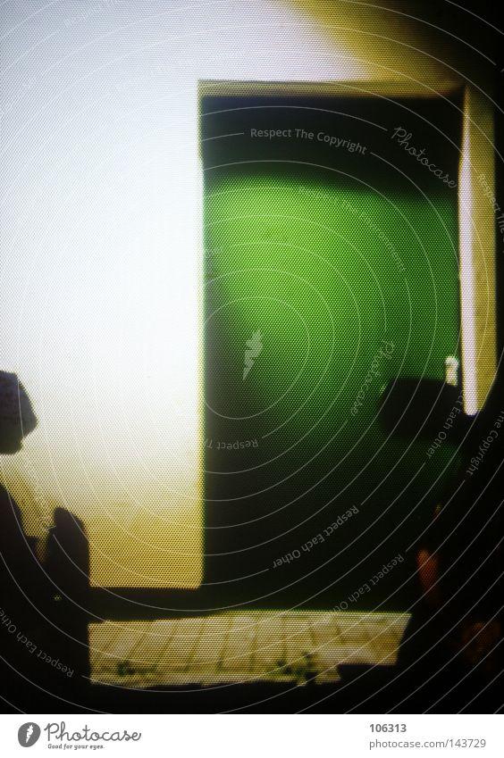 RGBeam X.01 grün dunkel Wand PKW Tür KFZ verfallen Eingang Lagerhalle Halle