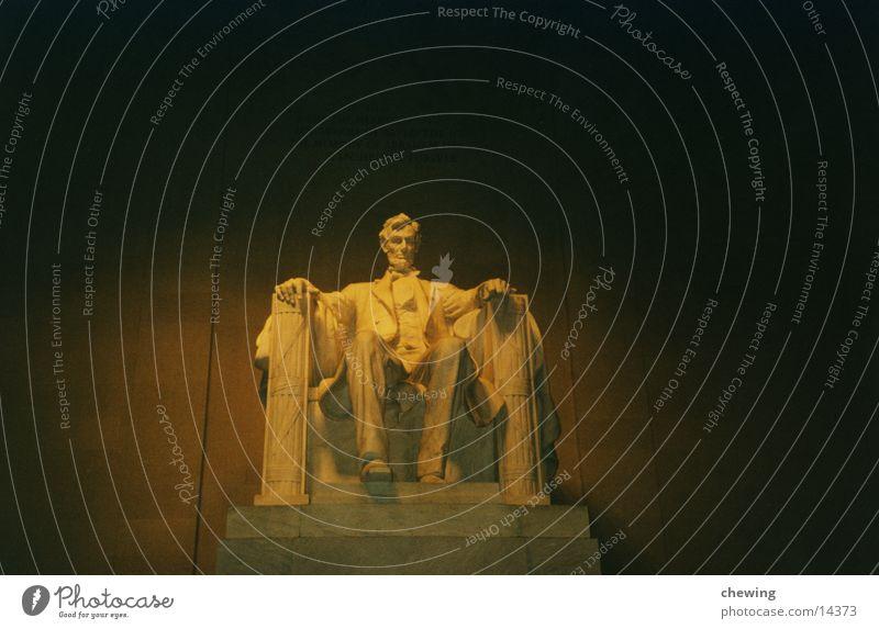 Abraham Lincoln Mensch Beleuchtung USA Vergangenheit Abenddämmerung Washington DC Präsident