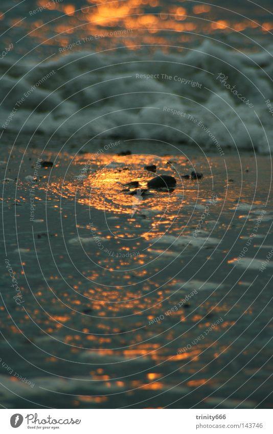 Auf den Spuren der Sonne Wasser Meer kalt Wärme Wellen Physik Schaum