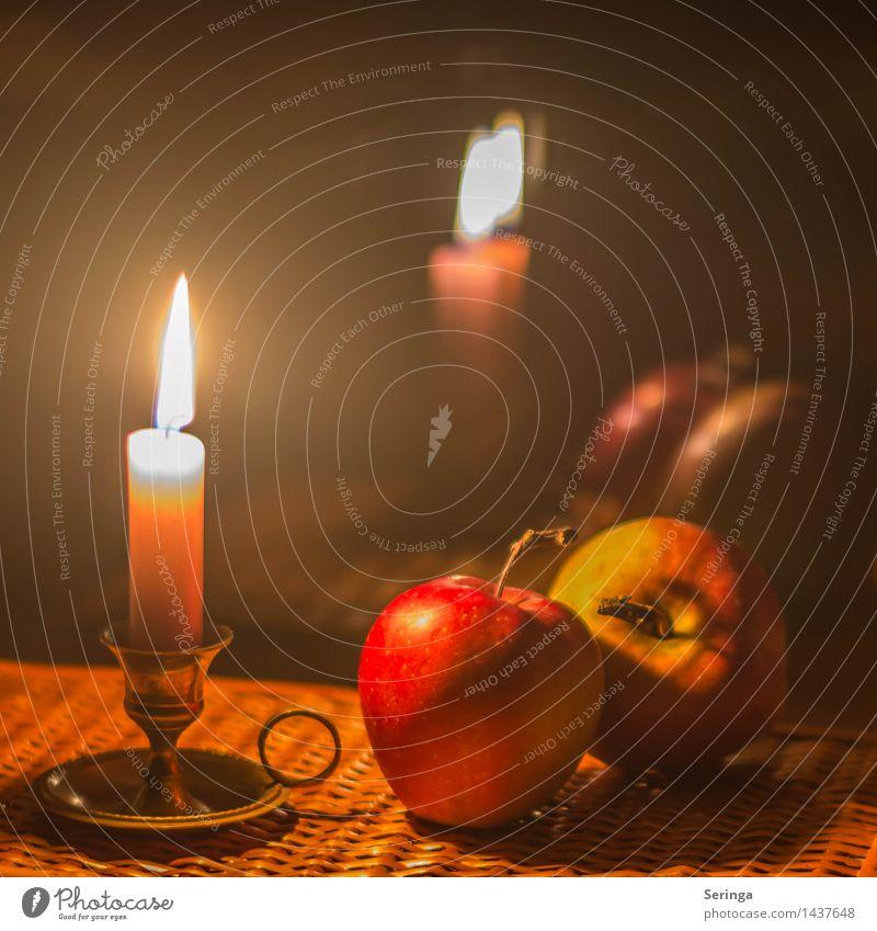 Eine ruhige Minute Apfel Wohlgefühl Zufriedenheit Sinnesorgane Feste & Feiern Weihnachten & Advent Trauerfeier Beerdigung Taufe Dekoration & Verzierung Kerze