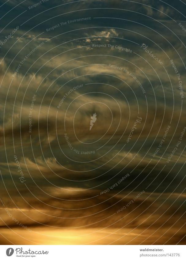 Himmel & Wolken Hintergrundbild Luft Wetter Meteorologie Wetterdienst Abend Abenddämmerung Gemälde Plattencover Stimmung Troposphäre Cover cdcover