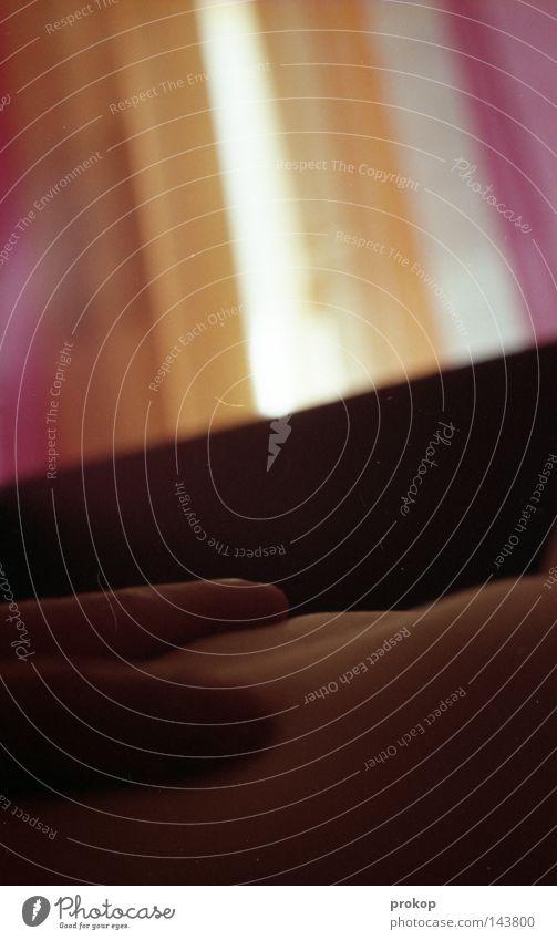 Dreiteiliger Interpretationsspielplatz Raum Licht Streifen abstrakt analog Filmindustrie Zone Teilung Langzeitbelichtung Frieden Zufriedenheit phasen Neigung