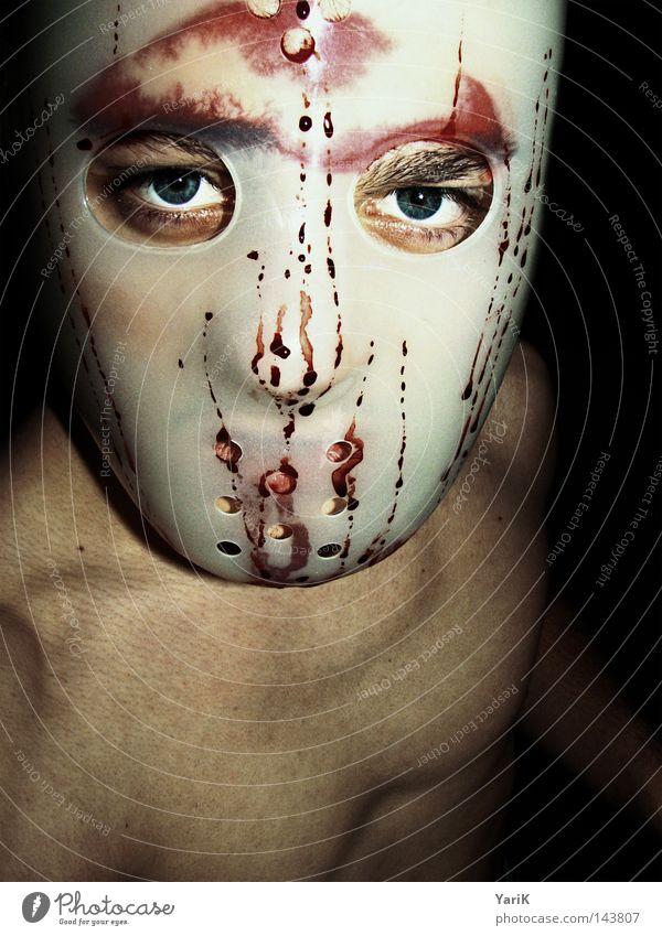 superhelden remake Mann schwarz Gesicht Auge dunkel nackt Wassertropfen gefährlich verrückt Filmindustrie Maske Krankheit gruselig Wut verstecken böse