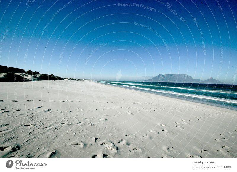 Cape Town Beach Himmel blau Strand Berge u. Gebirge Sand Afrika Südafrika