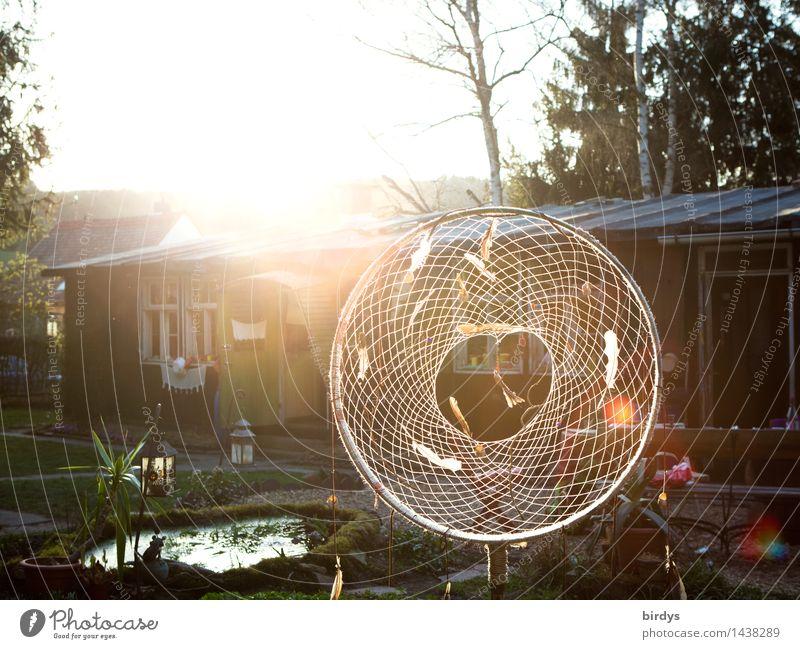 positiv vibrations Lifestyle Häusliches Leben Traumhaus Garten Dekoration & Verzierung Sonnenaufgang Sonnenuntergang Sonnenlicht Hütte Netz Kreis glänzend