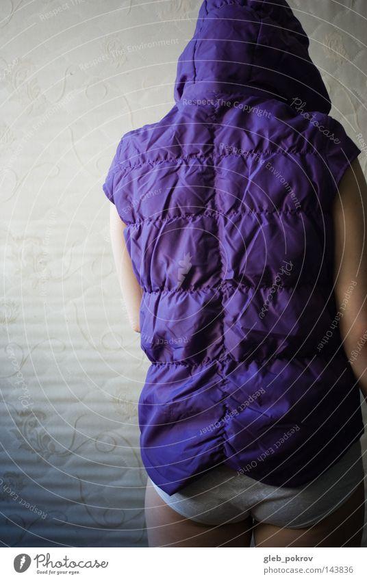 Mensch Hand Gefühle Raum Wohnung Rücken Hintergrundbild Mode Bekleidung stehen Innenarchitektur Russland Kapuze Kulisse Sibirien Sturmhaube