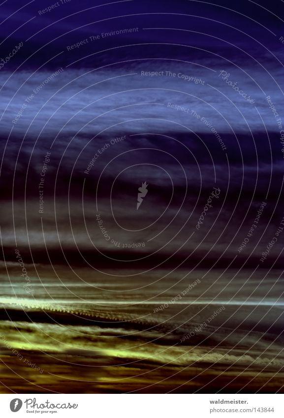 Himmel & Wolken II Luft Stimmung Hintergrundbild Wetter Gemälde Abenddämmerung Meteorologie Kondensstreifen Wetterdienst Plattencover Troposphäre