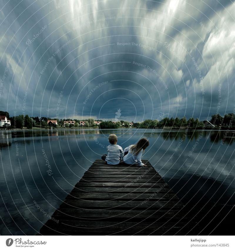 ein schöner tag Mensch Kind Natur Wasser Mädchen Meer Ferien & Urlaub & Reisen ruhig Haus Wolken Leben Erholung Toskana Junge Gefühle Freiheit
