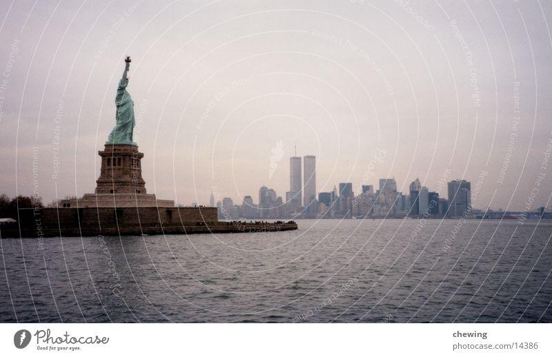 FreiheitsStatue Stadt USA Skyline Manhattan Stadtteil New York City Freiheitsstatue Nordamerika