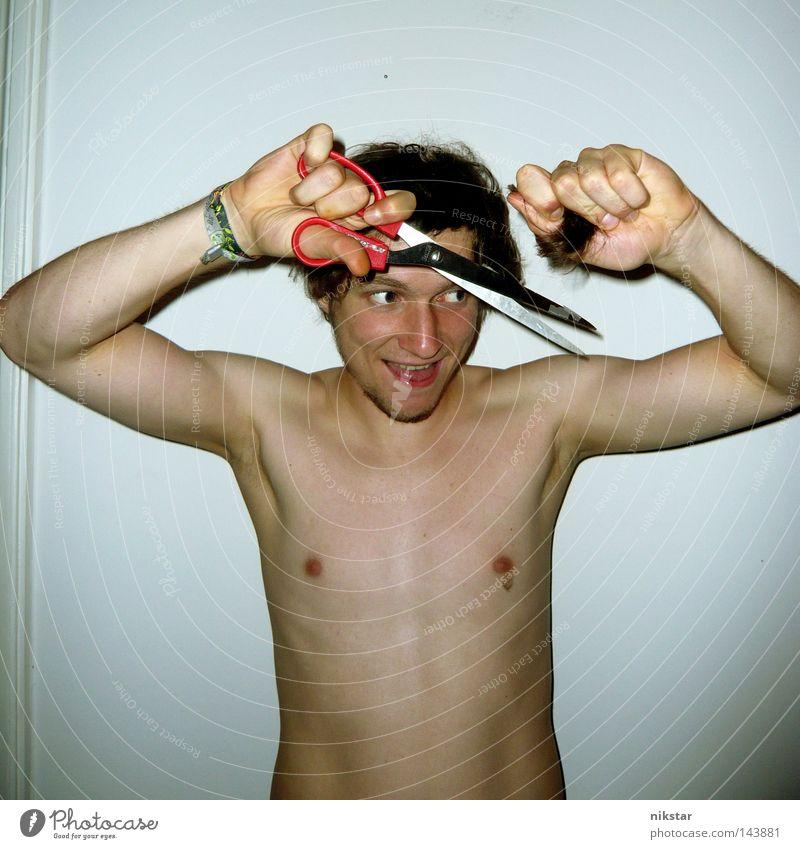 devils haircut 3 Mann Jugendliche nackt Haare & Frisuren Brust Bart Friseur Typ Schere Haarschnitt Kerl Haarsträhne Indie Achsel Werkzeug