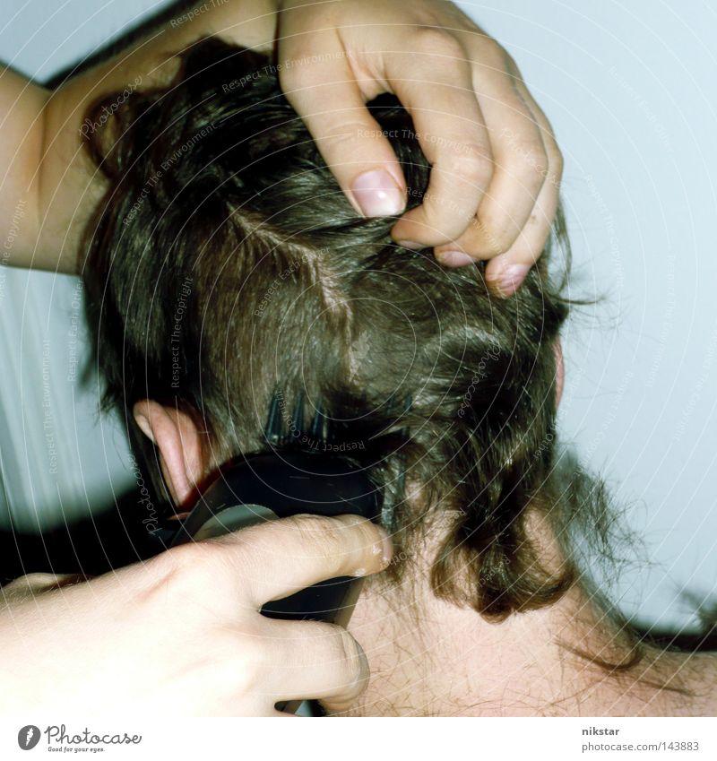 devils haircut 5 Jugendliche Hand Haare & Frisuren Angst Wandel & Veränderung Vergänglichkeit Panik Haarschnitt Rasieren Rasierer