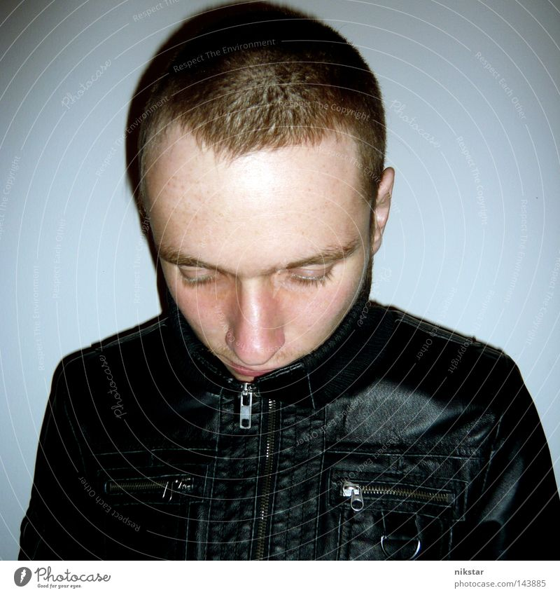 devils haircut 6 aka mark renton Mensch Mann Jugendliche Haare & Frisuren Kopf Behaarung Typ Leder Friseur Kerl Rock `n` Roll Lederjacke