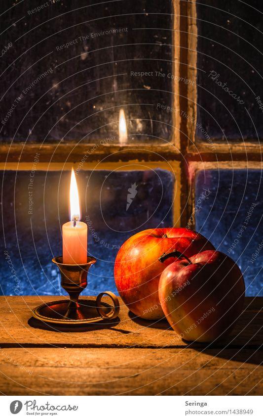 Vorfreude auf die heilige Zeit Frucht Apfel Dekoration & Verzierung Winter Kirche Holz Metall Zufriedenheit Güte dankbar ruhig Wahrheit Glaube Hoffnung Trauer