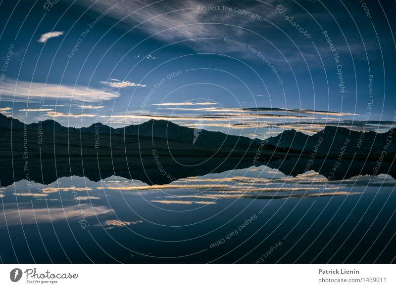Mt. Whitney harmonisch Wohlgefühl Ferien & Urlaub & Reisen Umwelt Natur Landschaft Urelemente Erde Luft Wasser Himmel Wolken Nachthimmel Sonnenaufgang