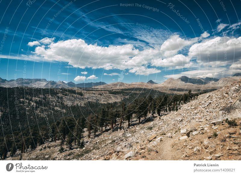 High Sierra Himmel Natur Ferien & Urlaub & Reisen Sommer Sonne Landschaft Wolken Ferne Berge u. Gebirge Umwelt Freiheit Felsen Tourismus Zufriedenheit Wetter