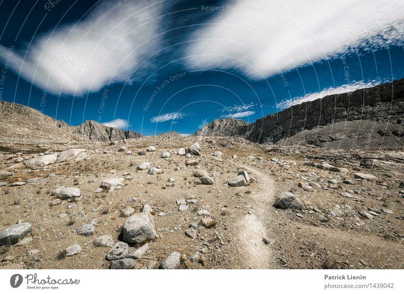 Weg nach oben harmonisch Wohlgefühl Zufriedenheit Ferien & Urlaub & Reisen Tourismus Ausflug Abenteuer Ferne Freiheit Berge u. Gebirge wandern Mensch Umwelt