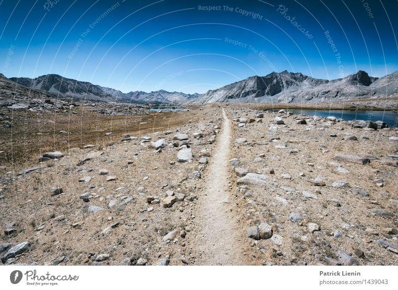 Weg durch die Mitte Ferien & Urlaub & Reisen Ausflug Abenteuer Ferne Freiheit Umwelt Natur Landschaft Urelemente Erde Sand Luft Himmel nur Himmel Sommer Klima