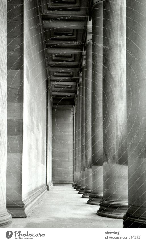 säulen Stein Architektur USA Tunnel historisch tief Säule