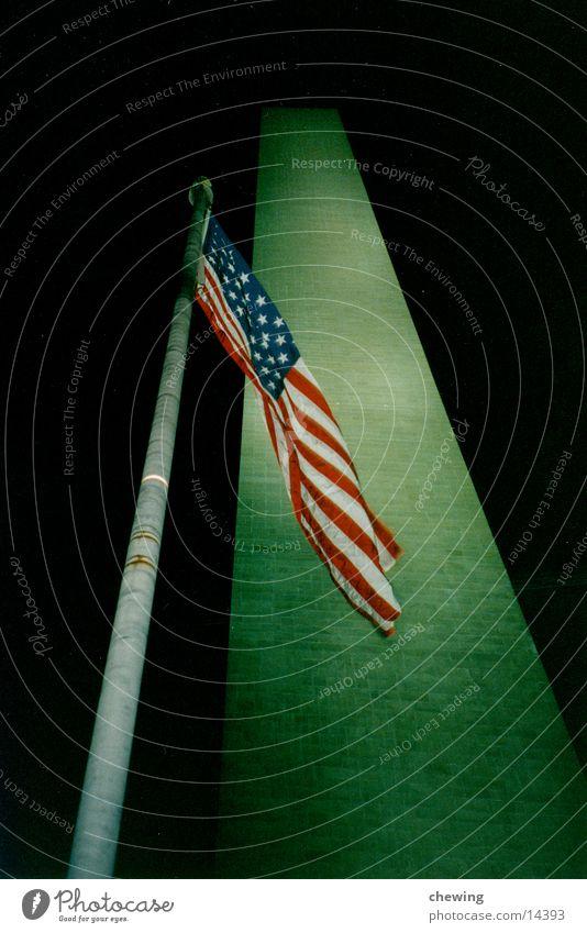 obelisk Präsident Beleuchtung Nordamerika Washington DC USA Vergangenheit Abend Obelisk