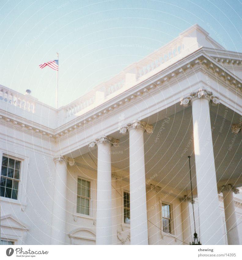 white house Gebäude Beleuchtung USA Vergangenheit Südamerika Washington DC Präsident Weißes Haus