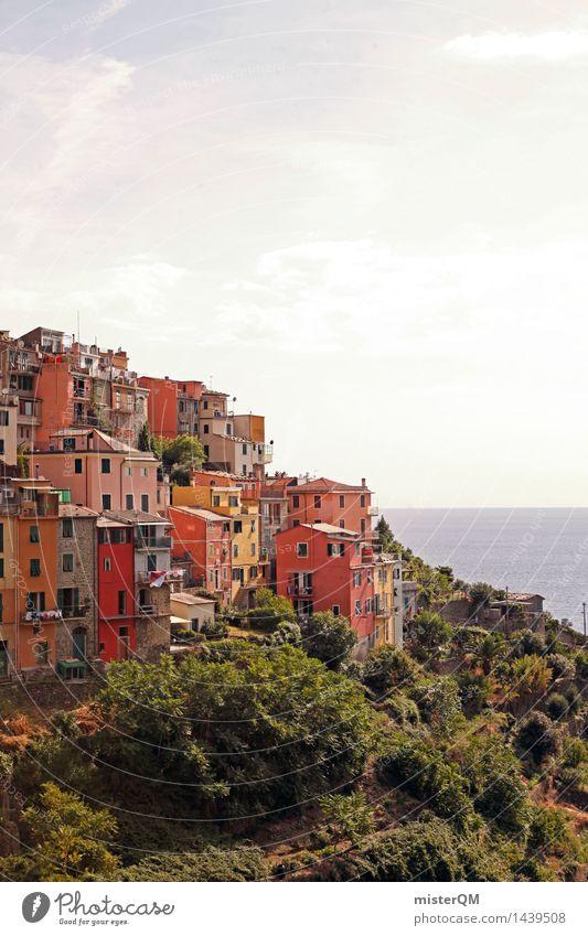 Alles Fassade! Sommer Wärme Gebäude Idylle ästhetisch Italien Skyline mediterran Sehenswürdigkeit Süden Kleinstadt Kunstwerk Toskana Italienisch Urlaubsfoto