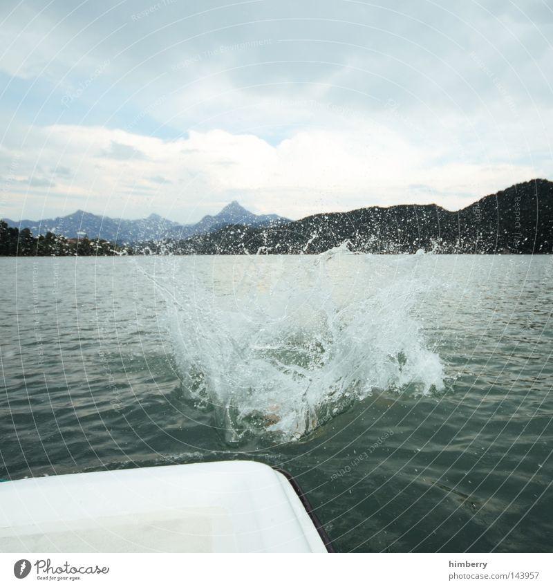 der große reinfall Himmel Hand Ferien & Urlaub & Reisen Erholung Spielen Berge u. Gebirge springen See Deutschland Wetter Wasserfahrzeug Freizeit & Hobby