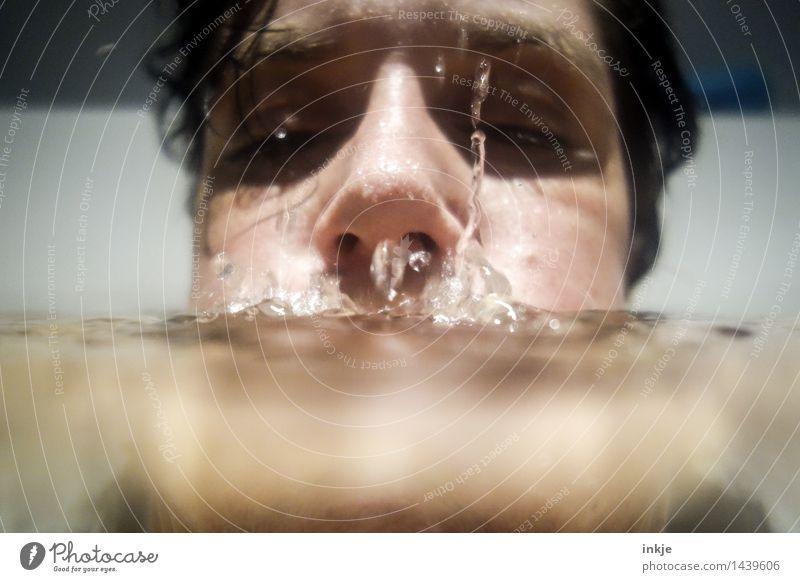.°´O.° 0`°°O° Mensch Frau Wasser Erholung ruhig Gesicht Erwachsene Leben Gefühle Lifestyle Schwimmen & Baden Stimmung liegen Freizeit & Hobby Wassertropfen