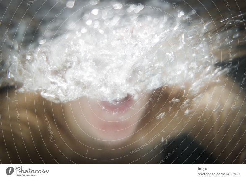 laut, aber völlig unverständlich Lifestyle Whirlpool Schwimmen & Baden Jugendliche Erwachsene Leben Körper Mund 1 Mensch Wasser Kommunizieren schreien tauchen