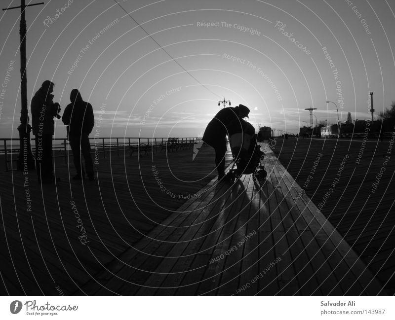 Konihs Eiland im Nu Joark New York City Promenade Sonnenuntergang kalt frisch Ferne Vergnügungspark Kinderwagen kümmern Sorge Freizeit & Hobby lungern