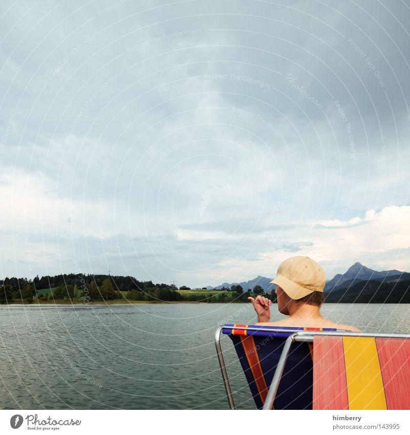 navigator Himmel Mann Hand Ferien & Urlaub & Reisen Erholung Berge u. Gebirge springen See Wetter Deutschland Wasserfahrzeug Freizeit & Hobby groß Körperhaltung Alpen dünn