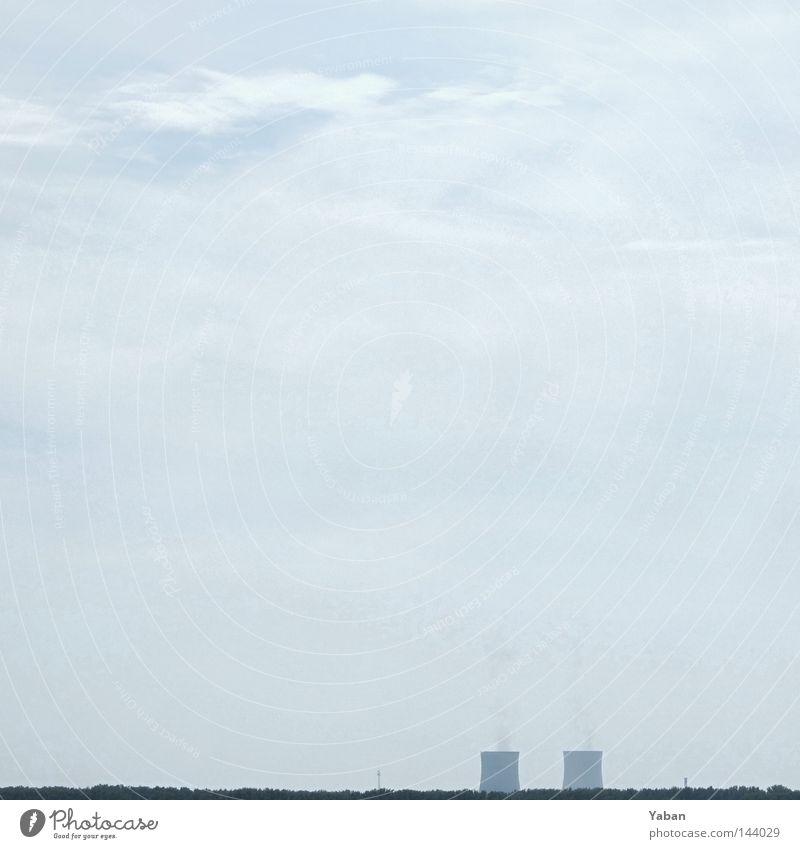 Ehen in Philippsburg grau Nebel Energie Industrie Energiewirtschaft Elektrizität gefährlich Strahlung Kohlendioxid Schleier Kernkraftwerk schlechtes Wetter Kühlturm Radioaktivität