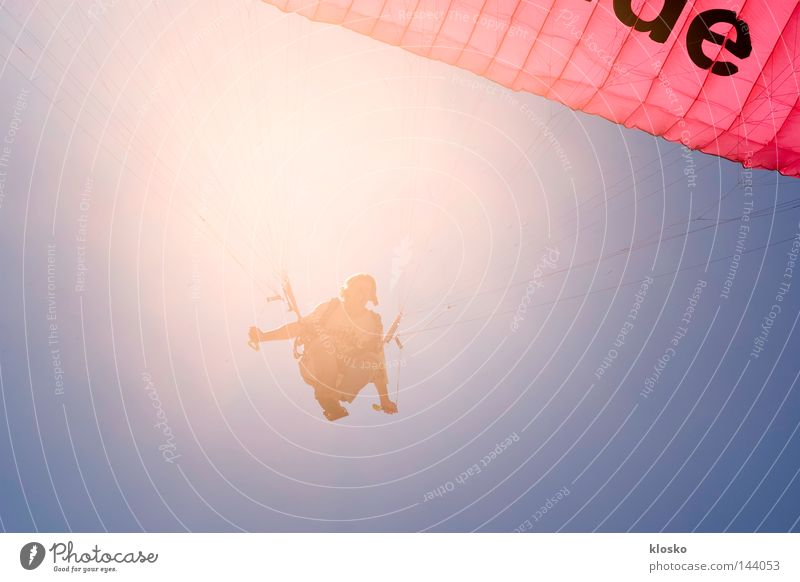 Para-Landung Ferien & Urlaub & Reisen Sport Spielen Sand fliegen Aktion Luftverkehr Reisefotografie Afrika Freizeit & Hobby Wüste dünn sportlich Flugzeuglandung