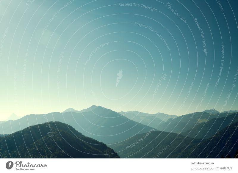 Layers Alpen Berge u. Gebirge wandern Ferne Panorama (Aussicht) Panorama (Bildformat) Schichtarbeit Ebene Bergkette Natur Naturschutzgebiet Hügel Voralpen