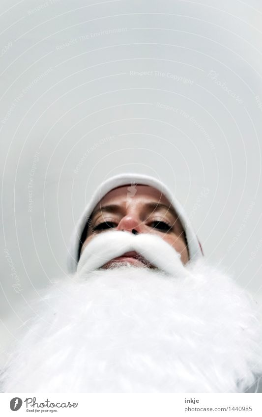 Na, Kleiner? Geschenke? Sicher? Lifestyle Freizeit & Hobby Weihnachten & Advent Weihnachtsmann Erwachsene Senior Leben Gesicht 1 Mensch Mütze Bart