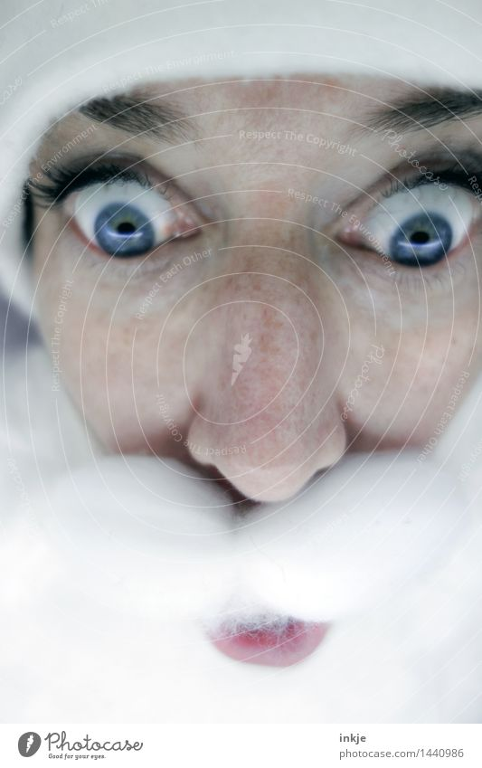 OHOOOO Lifestyle Freude Freizeit & Hobby Weihnachten & Advent maskulin feminin androgyn Frau Erwachsene Mann Senior Leben Gesicht 1 Mensch Mütze Nikolausmütze