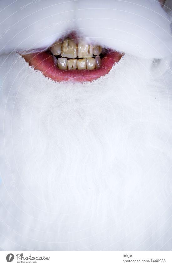 Nightmare before Christmas Mensch Weihnachten & Advent Erwachsene Leben Senior Angst Lächeln Mund kaputt Zähne Verfall Bart gruselig Zahnpflege grinsen