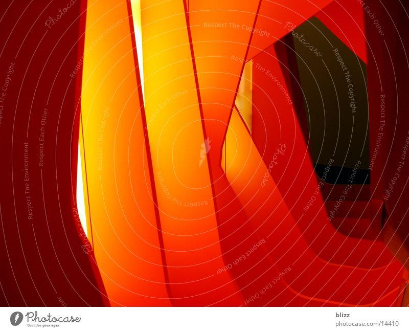 Latente Utopien 1 Raum orange Architektur durchsichtig Siebziger Jahre Ausstellung halbdunkel