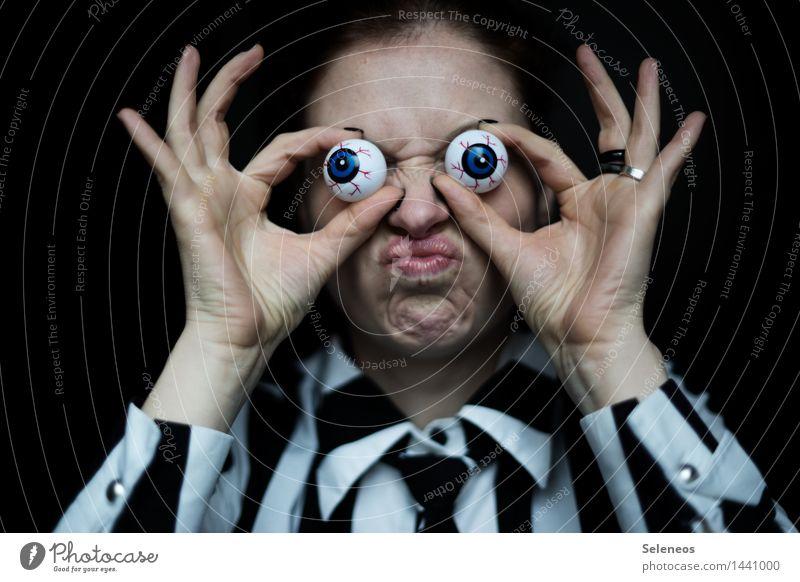 Augenzeuge Mensch Hand Gesicht Mund Finger beobachten Nase Lippen Überwachung spionieren Spitzel überwachen Überwachungsstaat