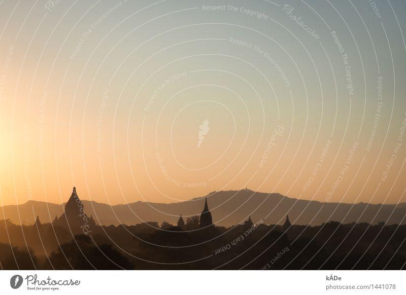 Bagan Ferien & Urlaub & Reisen alt Sommer Ferne Architektur außergewöhnlich Freiheit Stein Tourismus Kraft ästhetisch genießen beobachten Kultur Schönes Wetter