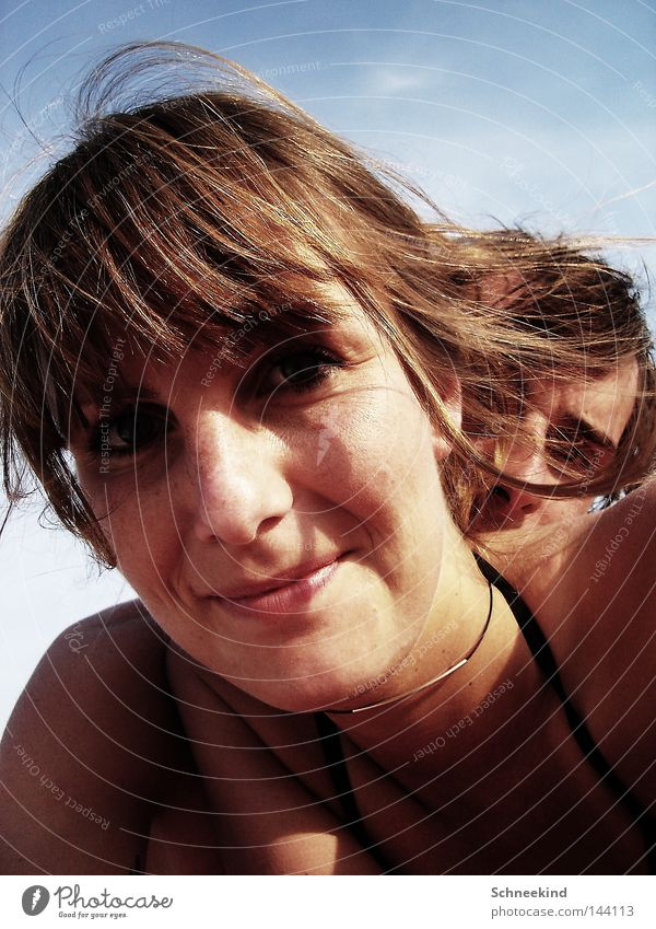 Strandkinder II Frau Himmel Ferien & Urlaub & Reisen Jugendliche Mann Sommer Meer Erholung Freude Gesicht Haare & Frisuren lachen Paar Freundschaft Italien