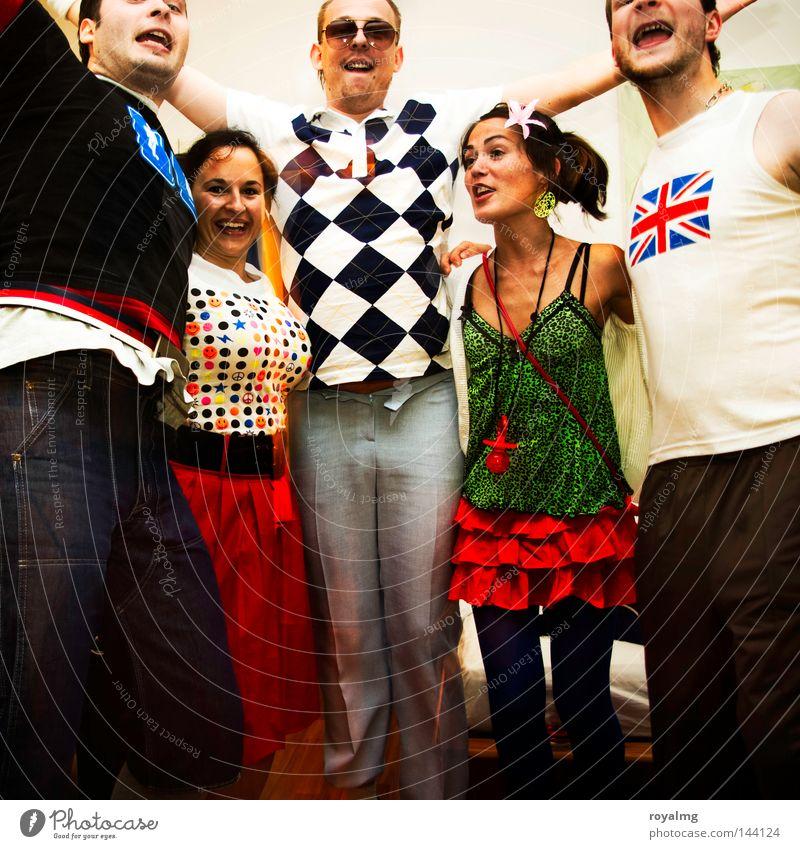 Bad Taste Party Freude Mensch Stil Menschengruppe Feste & Feiern Mode Kleid Karneval Club kariert Bekleidung