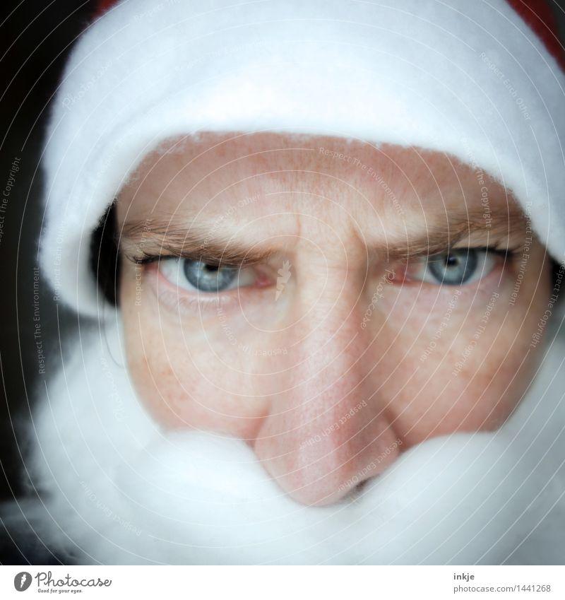Und wer von Euch sagt jetzt das Gedicht auf? Weihnachten & Advent Weihnachtsmann Frau Erwachsene Mann Weiblicher Senior Leben Gesicht 1 Mensch Mütze Bart