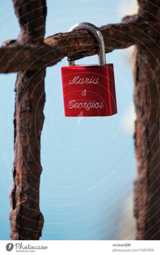 Maria & Georgios Kunst Kunstwerk ästhetisch Liebe Liebeserklärung Liebesbekundung Liebeskummer Liebespaar Schloss rot Eyecatcher Symbole & Metaphern Ewigkeit