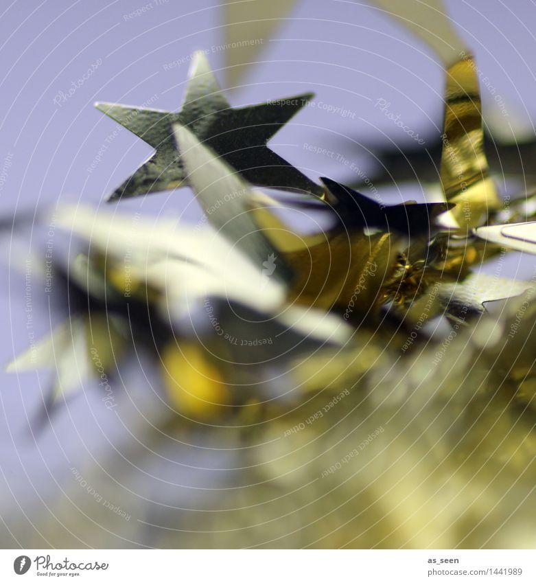 Sternenglitzern elegant harmonisch Dekoration & Verzierung Weihnachten & Advent Silvester u. Neujahr Kitsch Krimskrams Metall Gold Zeichen Stern (Symbol)