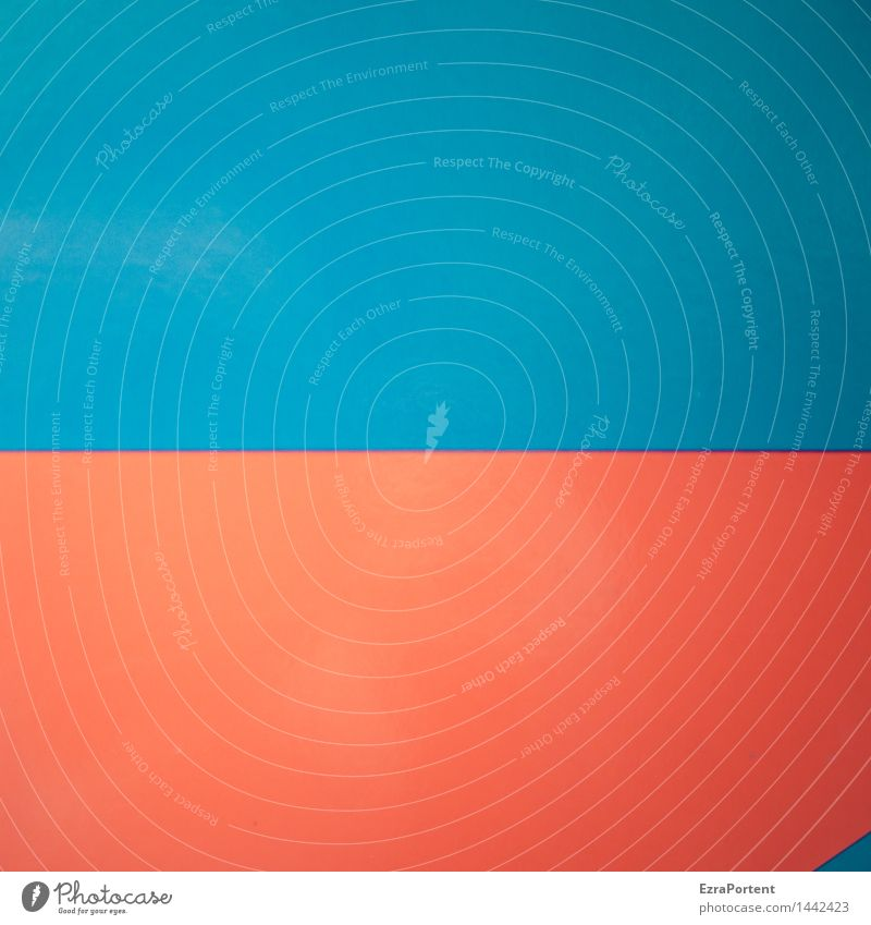 nur ein wenig Stil Design Kunst Kultur Metall Linie ästhetisch blau rot Farbe Strukturen & Formen verstecken Geometrie gerade Dreieck Grafik u. Illustration